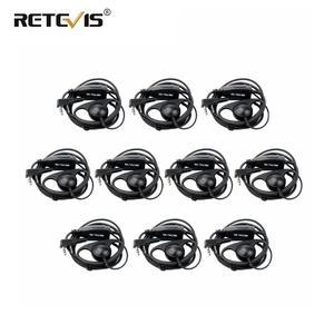 Image 1 - 10pcs D รูปร่าง 2Pin Soft Ear Hook ชุดหูฟัง PTT Mic อุปกรณ์เสริมสำหรับ Kenwood Retevis H777 RT5 RT21 Baofeng 888s UV 5R Walkie Talkie
