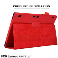 For Lenovo Tab 2 A10 70F Auto Sleep Wake Up Flip Litchi PU Leather Case For