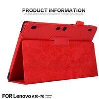 For Lenovo Tab 2 A10 70F Auto Sleep Wake Up Flip Litchi PU Leather Case For