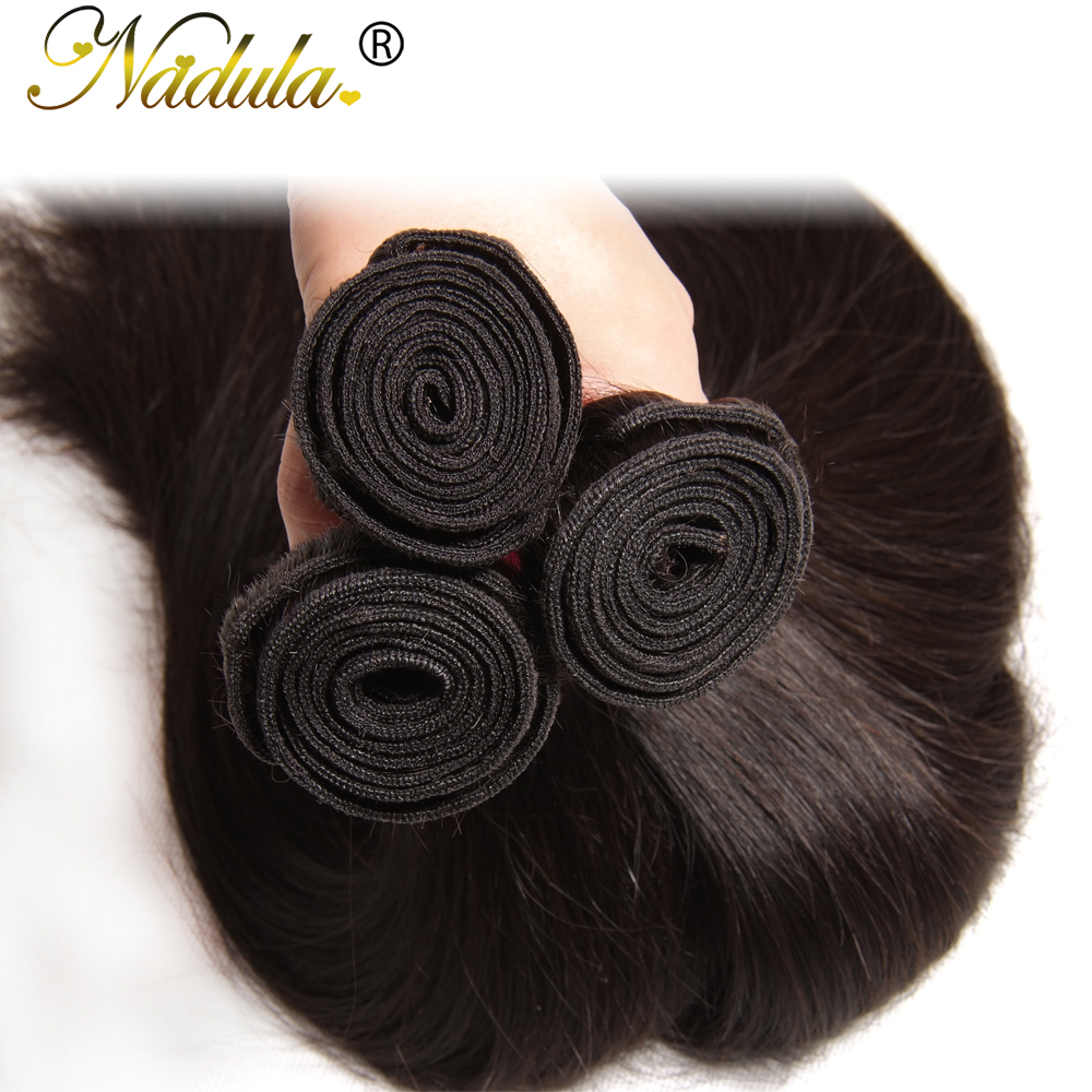 Image 5 - Nadula Hair 3Bundles/4 Bundles Brazilian Straight Hair Bundles 100g/pc Remy Human Hair Extensions Natural Color Hair Weave-in Hair Weaves from Hair Extensions & Wigs