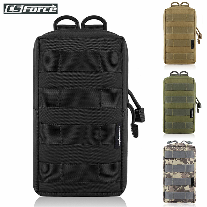 <font><b>Tactical</b></font> <font><b>Molle</b></font> Pouch Bag Utility EDC Pouch for Vest Backpack Belt Outdoor Hunting Waist Pack Military Airsoft Game Accessory Bag image