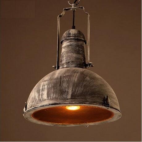 Ameriški Country Loft Style Iron obesek luči svetilke mreža - Notranja razsvetljava - Fotografija 1
