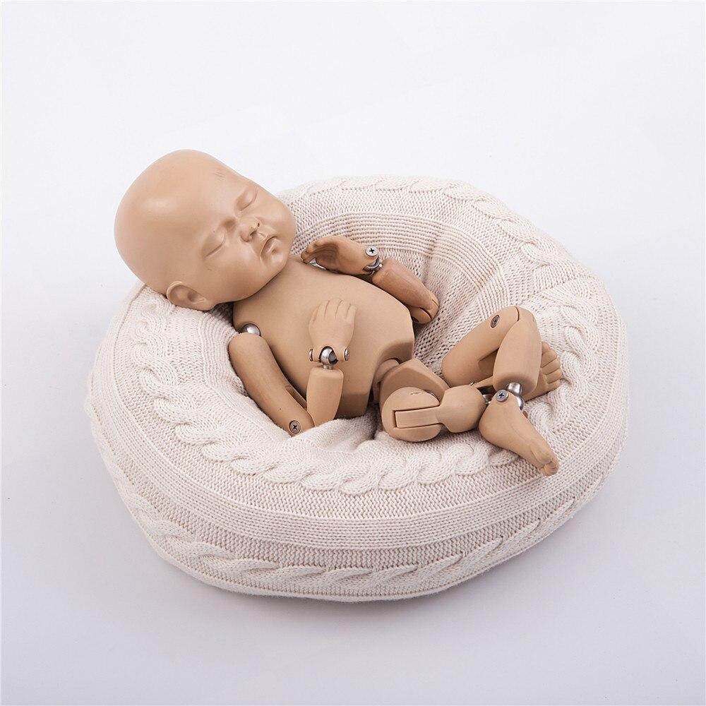 Newborn Photography Props Cycle Ring Round Shape Pillow Baby Photo Shoot Posing Sofa Backdrop Basket Stuffer Fotografia