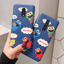 Blue Cookie Monsters Case for OnePlus 7 / 7 Pro Matte Soft Silicone Cases for OnePlus 7 Pro 5G Funny Red Elmo IMD Phone Cover