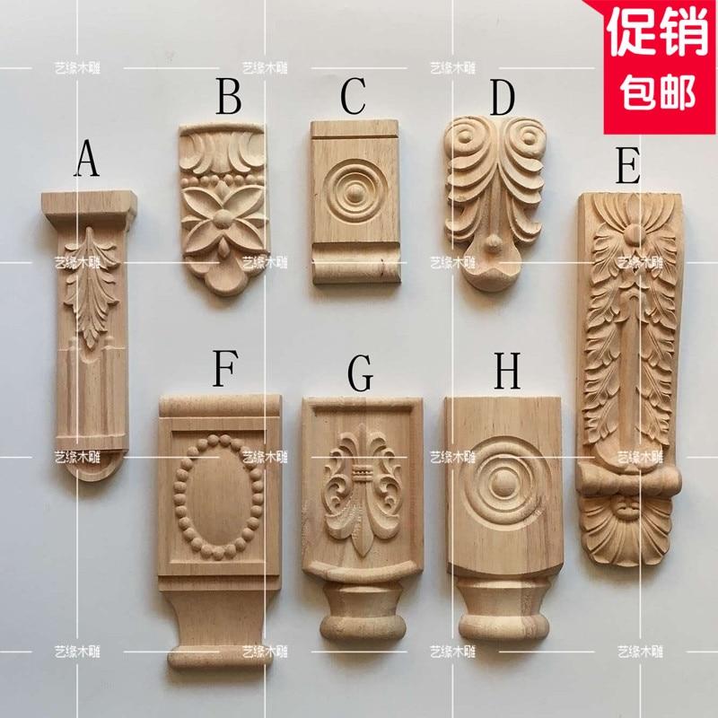 2pcs/lot, Furniture Accessories, Stigma Roman Column, Beam Mat, Fireplace Cabinet Door Decoration Wood Corbel(A747)
