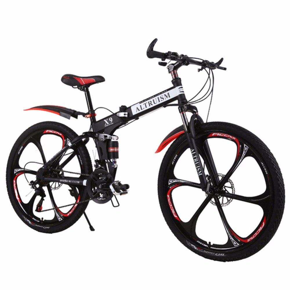 Vente chaude L'altruisme Montagne Vélos 26-Pouces En Acier 21-Vitesse Vélos X9 Double Freins À Disque À Vitesse Variable Route vélo Vélo De Course