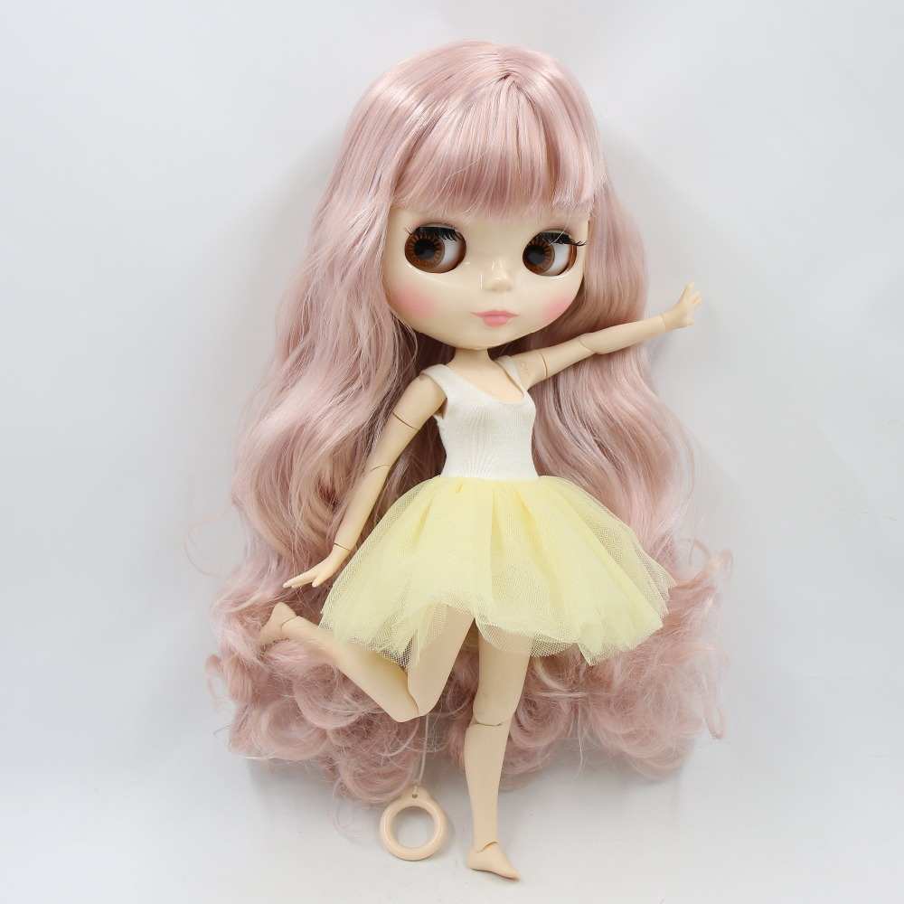 factory blyth doll 1 6 bjd joint body white skin 30cm 280BL1329 7263 pink mix blonde