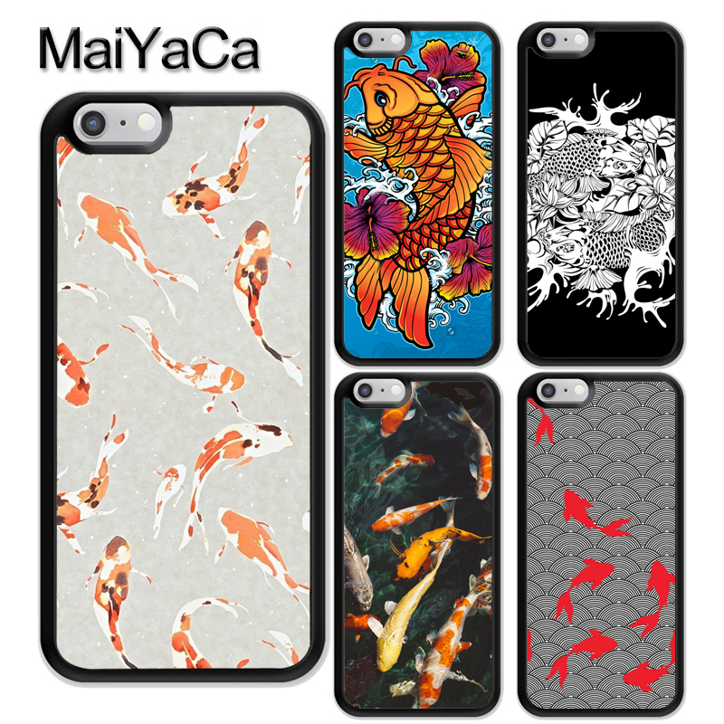 Open-Minded Maiyaca Koi Carp Fish Soft Rubber Phone Cases For Iphone 6 6s 7 8 Plus X Xr Xs Max 5 5s Se Back Cover Skin Shell Coque Fitted Cases