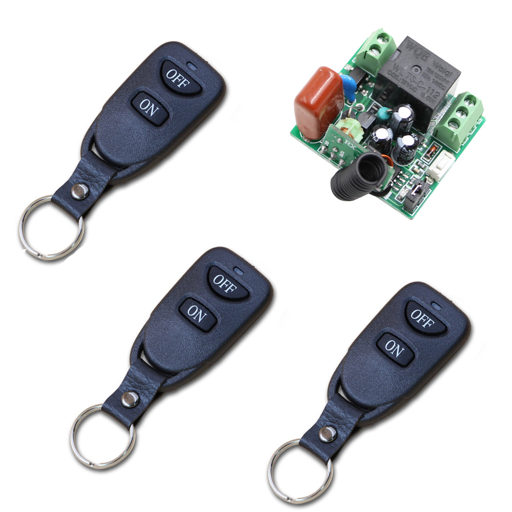 Best Price Mini AC220V 10A Relay 1CH 315/433 MHz Wireless Remote Control Switch 3 Transmitter +1 Receiver best price 5pin cable for outdoor printer