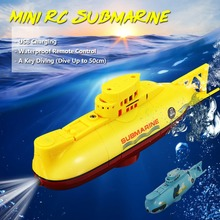 цена на 6CH Speed Radio Remote Control Electric Mini RC Submarine Boat Kids Children Toy With Specification USB Charging