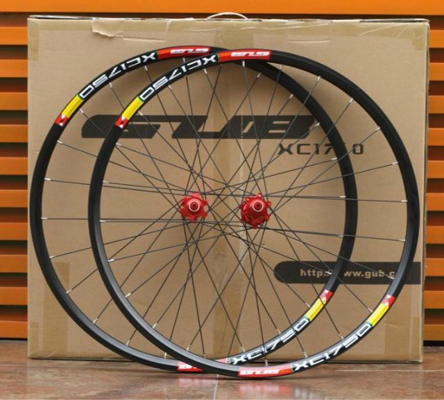 GUB 1750 26 MTB Mountain Bike Wheelsets 4 Bearing Hub white rim black red hub pillar spokes disc brake rear wheel hub for mazda 3 bk 2003 2008 bbm2 26 15xa bbm2 26 15xb bp4k 26 15xa bp4k 26 15xb bp4k 26 15xc bp4k 26 15xd