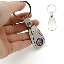 KeyRing For Alfa Romeo Audi Nissan Ford Chevrolet MINI Cooper Peugeot Logo Metal KeyChain Badge Key Ring Emblem Key Holder Chain