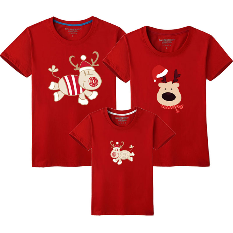 HTB1R52TUSzqK1RjSZFHq6z3CpXam - Father Son Clothes Family Look Christmas Family Matching Outfits T Shirt Mother Daughter Short Sleeve Dad Mom Baby Family Suit