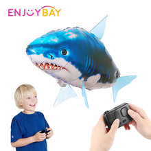 Enjoybay Remote Control Shark Toys Underwater RC Submarine Fish Swimming Kids Toy with USB Drone Balloons for Party Decoration(China)