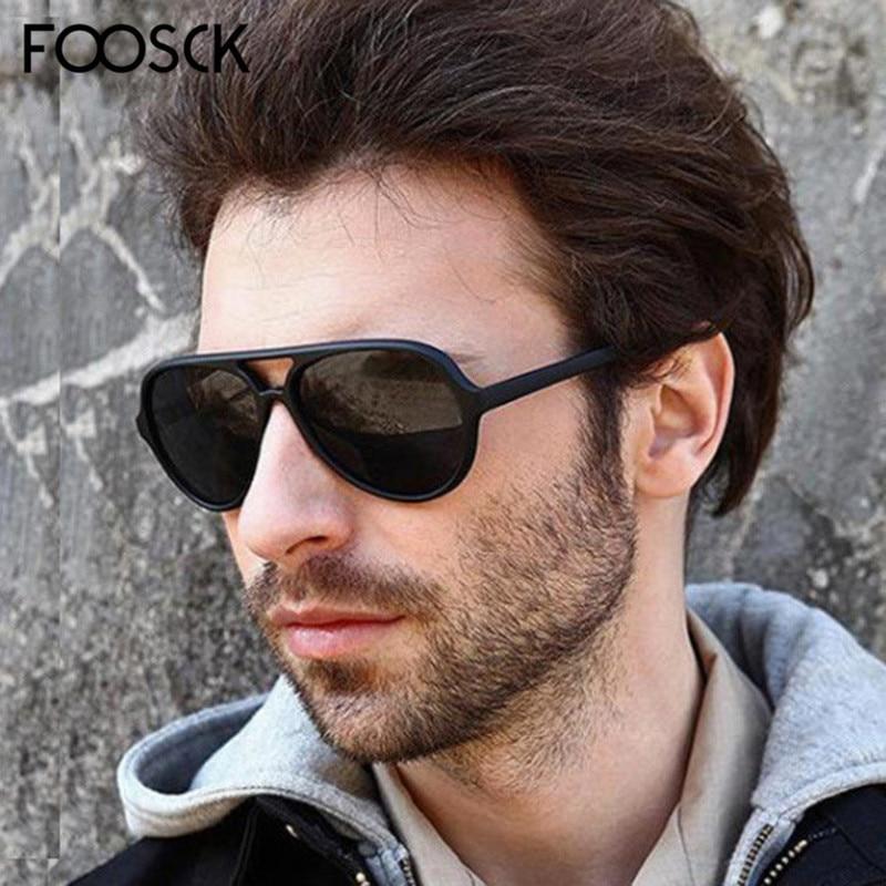 FOOSCK Classic Fashion Designer Brand Ladies Sun Glasses Cat Eye Driving Sunglasses Men Female Vintage Shades Eyewear UV400