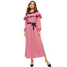 14f783a89 Musulmán mujer elegante impreso vestido de terciopelo de islámica Jilbab Abaya  cóctel vestido Maxi largo para mujer z0415