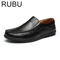 2017 Top Quality Men Flats Shoes Genuine Leather Men Shoes Handmade Loafers Moccasins Plus Size Driving