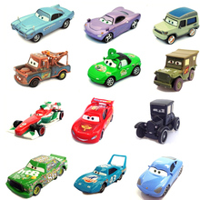 Disney Pixar Cars Metal Car 14Style Sarge Lizzie 1:55 Diecast Metal Alloy Car Toys Birthday Gift For Kids Children Cars Toys