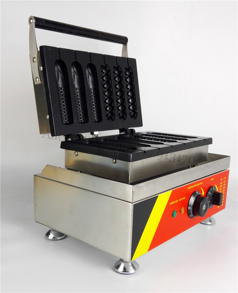 Commercial French Muffin Hot Dogs + Corn Hotdog Waffle Baker Maker for Bakery Coffee Shop Snacks Street Lolly Waffle Machine good quality with ce grill for french sausage maker hot dog maker hotdog machine lolly waffle maker machine