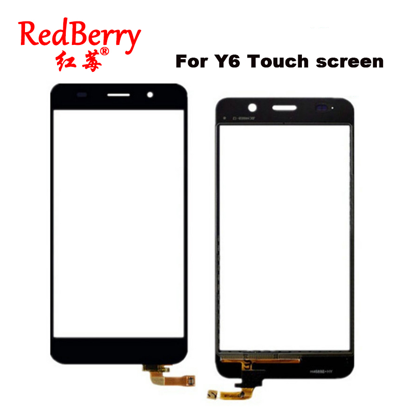 Redberry Replacement Digitizer Touch screen For Huawei Y6 Touchscreen Sensor Front Glass Panel Window Touch screen