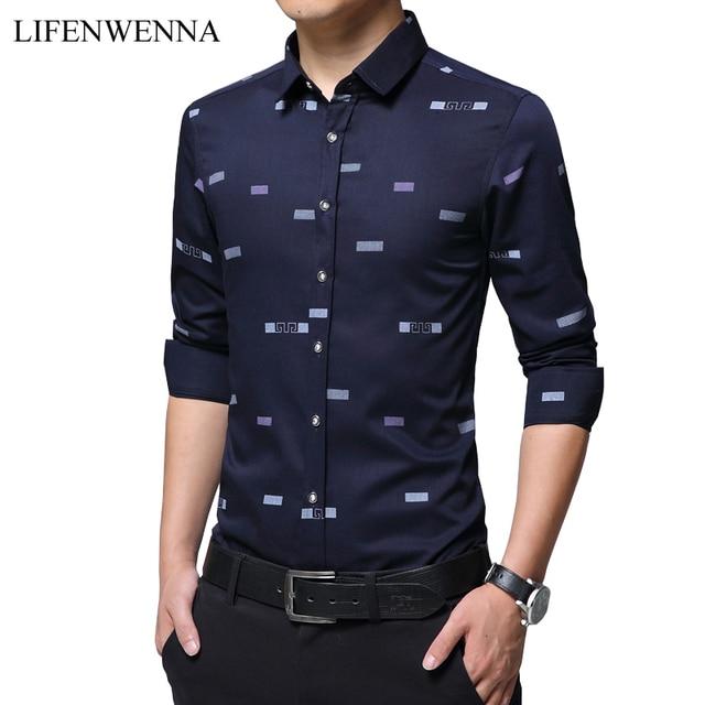 Aliexpress.com : Buy 2018 Autumn New Fashion Print Men's Shirt ...