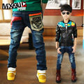 Retail High quality spring kids pants girls baby boys jeans children jeans for boys casual denim pants 3-12Y toddler clothing