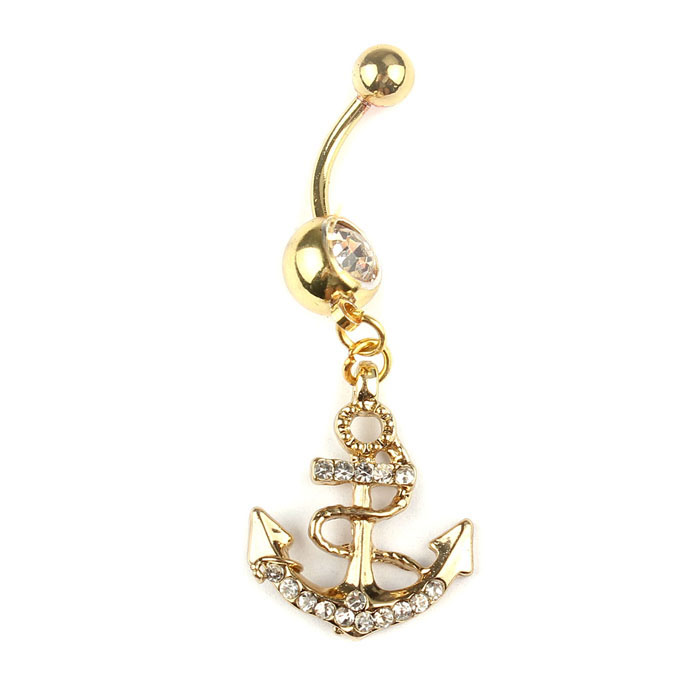 HTB1R53rOpXXXXXxaXXXq6xXFXXXw Bejeweled Golden Anchor Dangle Belly Button Bar Ring For Women