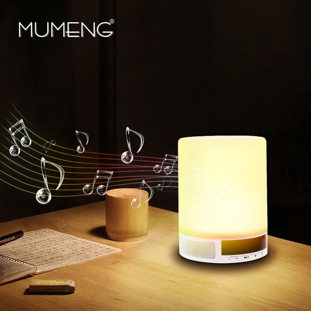 Mumeng Bluetooth Динамик Настольная Лампа Беспроводной Музыка Лампы 3 Вт 12 В Прикроватный Свет Сенсорный Затемнения Освещения Детская комната Ночь свет