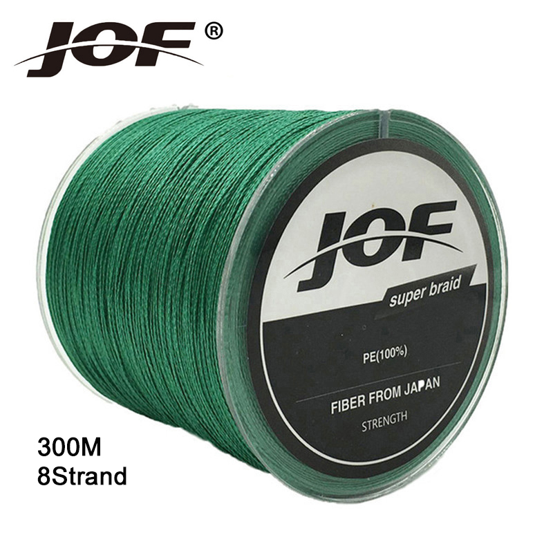 JOF 300M 100% PE Goods For Fishing Japan Multifilament 8 Braided Fishing Line 13-78LB Super Strong Carp & Fly Fishing Wire C5