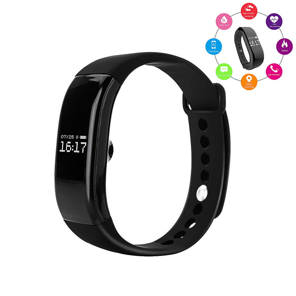 Waterproof IP67 Wirstband Pedometer Smart Heart Rate Bracelet Calorie Time Sleep Sport Electronics Intelligent Running Bracelet