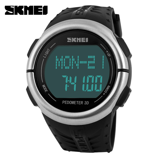 Skmei Pedometer Heart Rate Monitor Calories Counter Led Digital Sports Watch Fitness For Men Women Outdoor Military Wristwatches