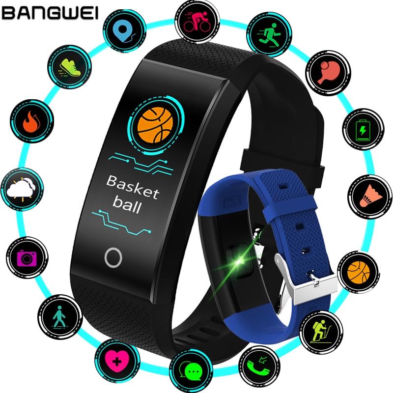 Neue BANGWEI Fitness Smart Uhr Herz Rate Monitor Blutdruck Fitness Tracker Smart band Sport Uhr für ios android Schwimmen