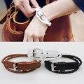 Корейский небольших ювелирных Корейской моды простой кожа застежка ювелирных изделий многослойная плетеный кожаный браслет d10