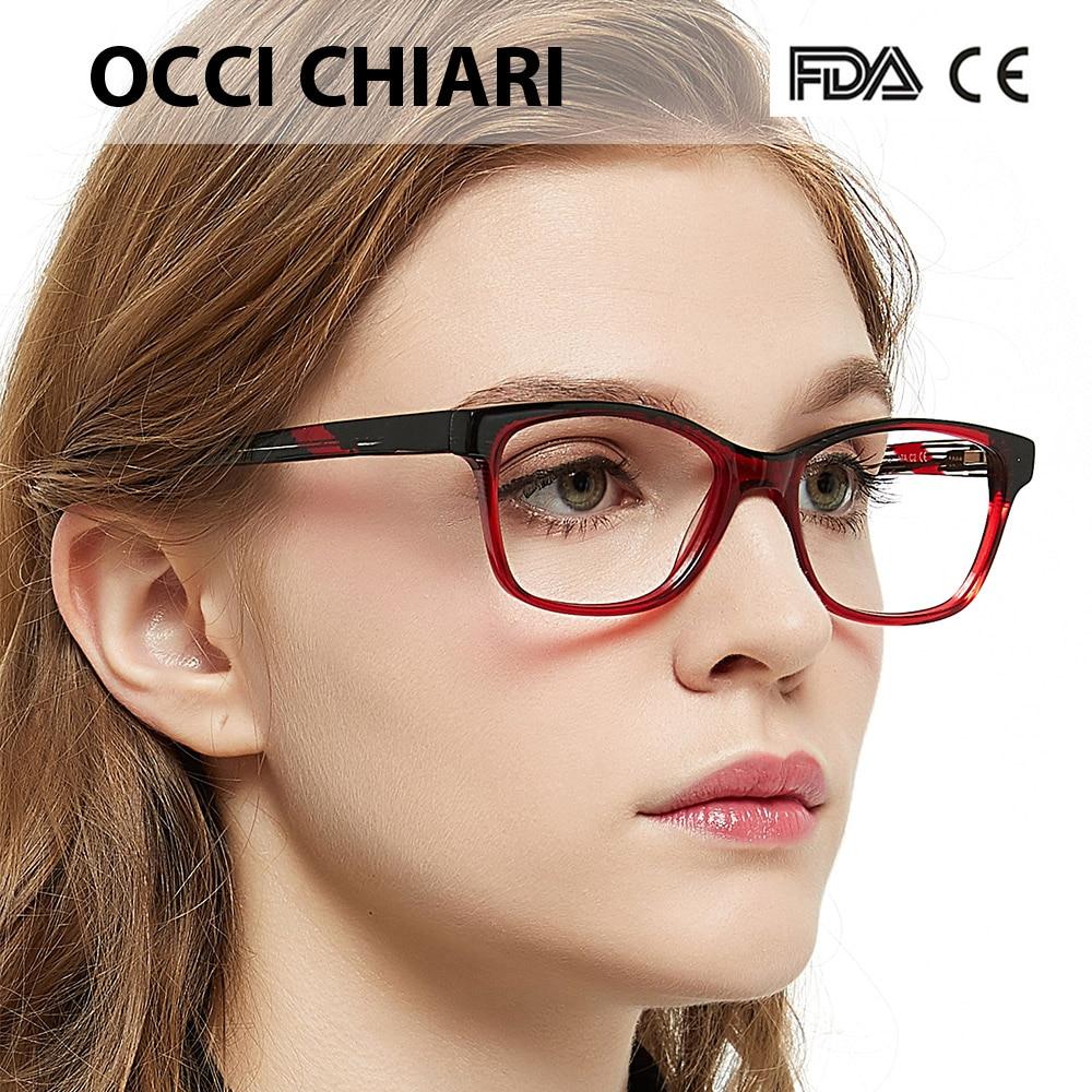 OCCI CHIARI Primavera Dobradiça Itália Design óculos de Acetato de Armações  de Óculos Ópticos Oculos Lunettes 5f13ed0e75