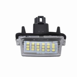 Image 4 - Lâmpadas led para carros substituição direta de 2x 18led branco luzes da placa de licença para toyota yaris acessórios do carro