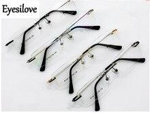 Eyesilove Retail 1pcs rimless optical glasses frames men women memory titanium eyeglasses for prescription many colors