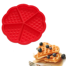 New Style Silicone Waffle Mold Maker Pan Microwave Baking Cookie or Cake 0r Muffin Bakeware Kitchen Tools Random Color