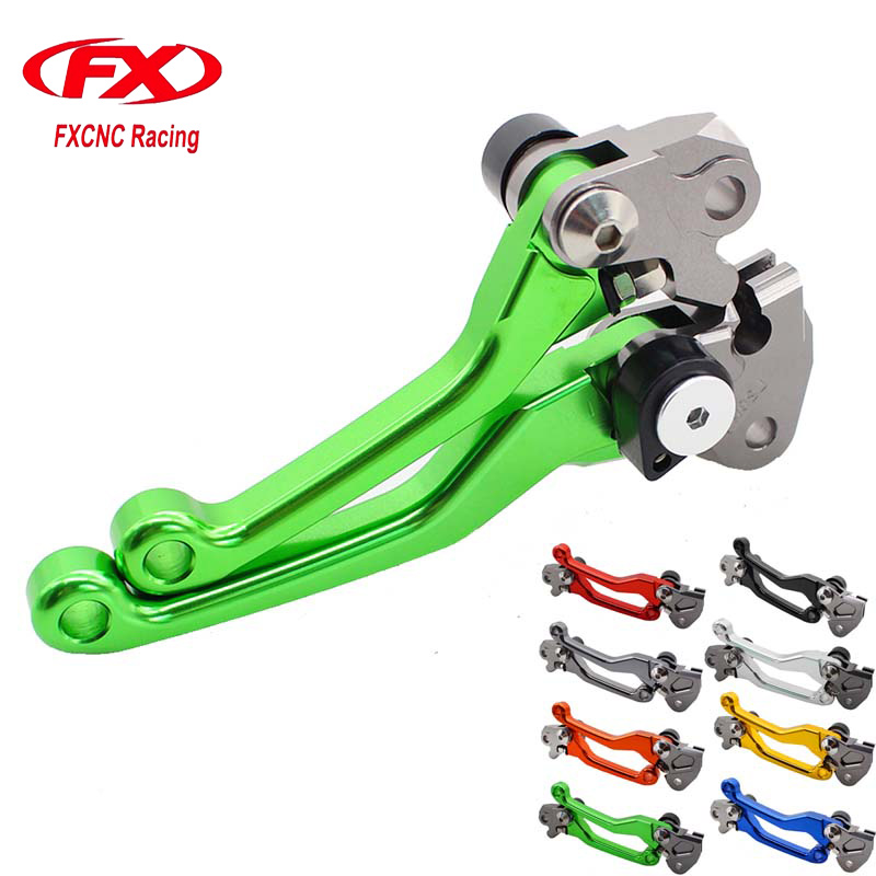 FX CNC Pivot Brake Clutch Levers for Honda CRF 250R 450R CRF450R CRF250R 2007 2008 2009 2010 2011 2012 2013 2014 2015 2016 2017 new cnc billet clutch cover outside for ktm 250 xcf w 2008 2009 2010 2011 2012 2013