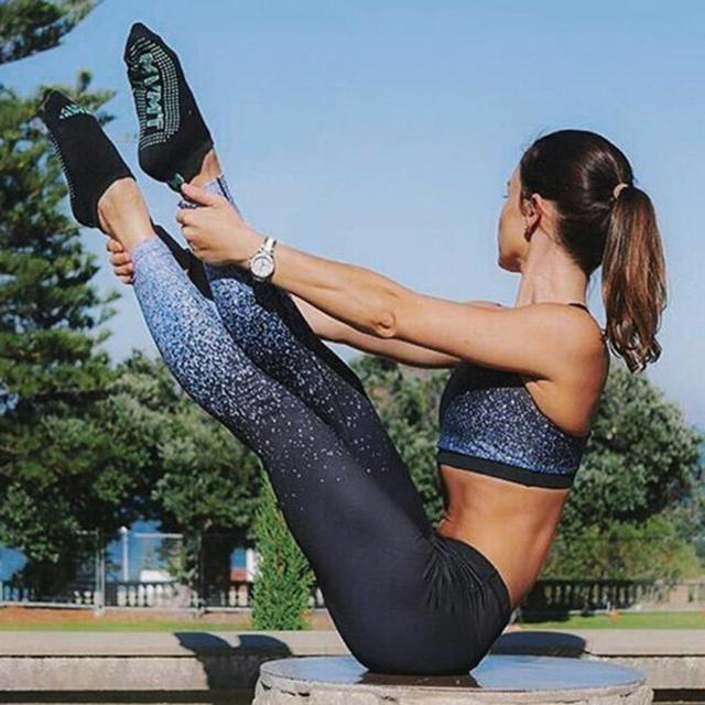 2019 Hot Women Yoga Pants Compression Tights Female Slim Sports Clothing Sport Pants Seamless Leggings Fitness Running Tights 2