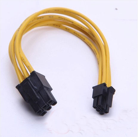 PC graphics card 6pin to for Mac graphics card small 6pin power cable 15cm