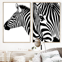 100% Hand Painted Morden Zebras Art Oil Painting On Canvas Wall Adornment Pictures For Living Rooms Home Decor