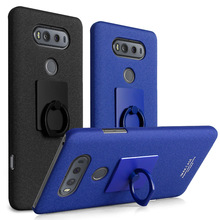 For LG V20 case with screen protector Imak cowboy Back Cover with stand Finger Ring Holder kickstand pc hard cases for LG V20
