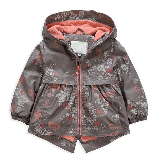 Primavera e no outono meninas windbreaker Crianças Casuais jaqueta Com Capuz Impermeável 4Y-5Y-6Y