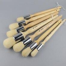 Conjunto de pincéis de pintura a óleo, de alta elasticidade, cerdas, materiais de pintura de cabelo, etui