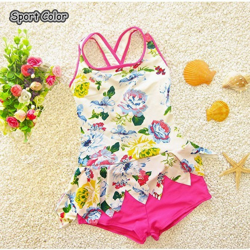 Lovely Kids Swimsuit Quality Girls Swimwear Teenagers One-pieces Sweet New Design Bath Suit Infant Children Beachwear 1-9years(China)