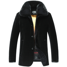 Mens Mink Fur Lined Jacket Coat Black Imported Silk Velvet Shell Is Smooth And Breathable Mink Fur Collar
