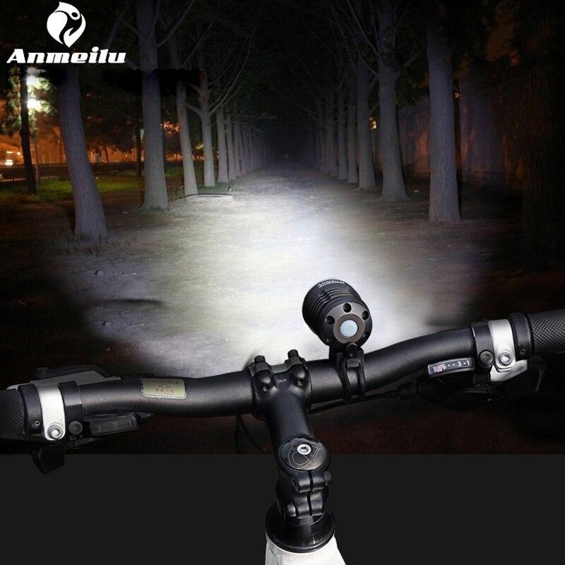 Anmeilu Impermeável Luzes de Bicicleta Utralight 2018 Bicicleta Guiador Da Bicicleta Luz da Frente da lâmpada Lanterna Luces LED Acessórios de Bicicletas