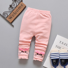 Baby Girl Cotton Leggings with Bow