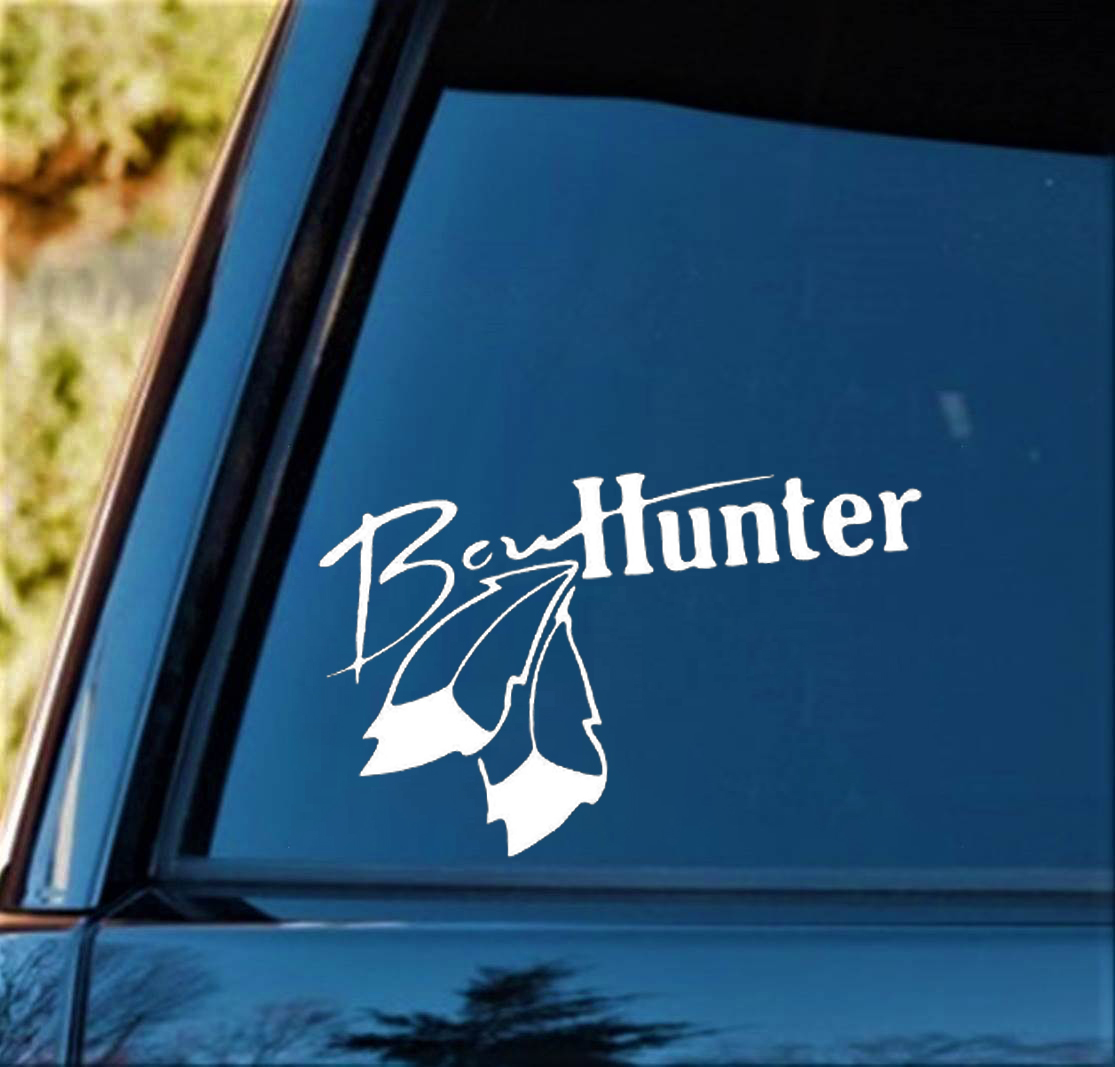 Bow Hunter Decal Sticker Turkey Deer Hunting Compound Bow Arrow