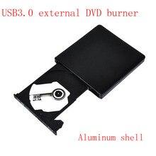 Envío Libre grabadora de dvd Externa USB3.0 móvil portátil de escritorio externo unidad de disco Duro de intercambio de aleación de aluminio negro